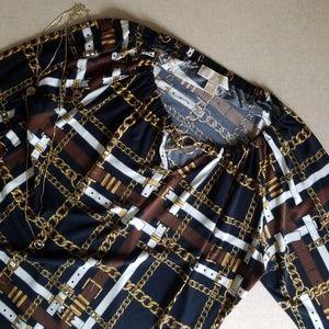 MICHAEL KORS Long Sleeve Chain Blouse
